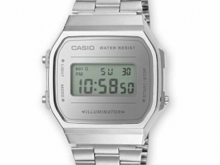 Casio Orologio Digitale Ref. A168WEM-7EF Grigio 36mm Cronografo Data Unisex Cool